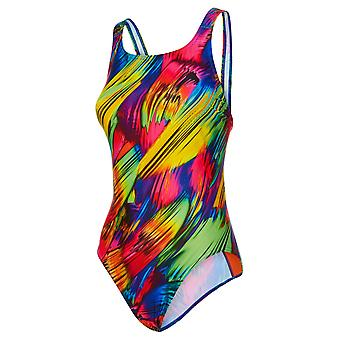 Maru Brushstrokes Pacer Vee Back Swimwear For Girls