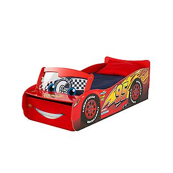 Disney Cars Lightning McQueen Enclosed Toddler Bed with Storage
