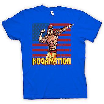 Kids T-shirt - Hoganation - Hulk Hogan ons vlag