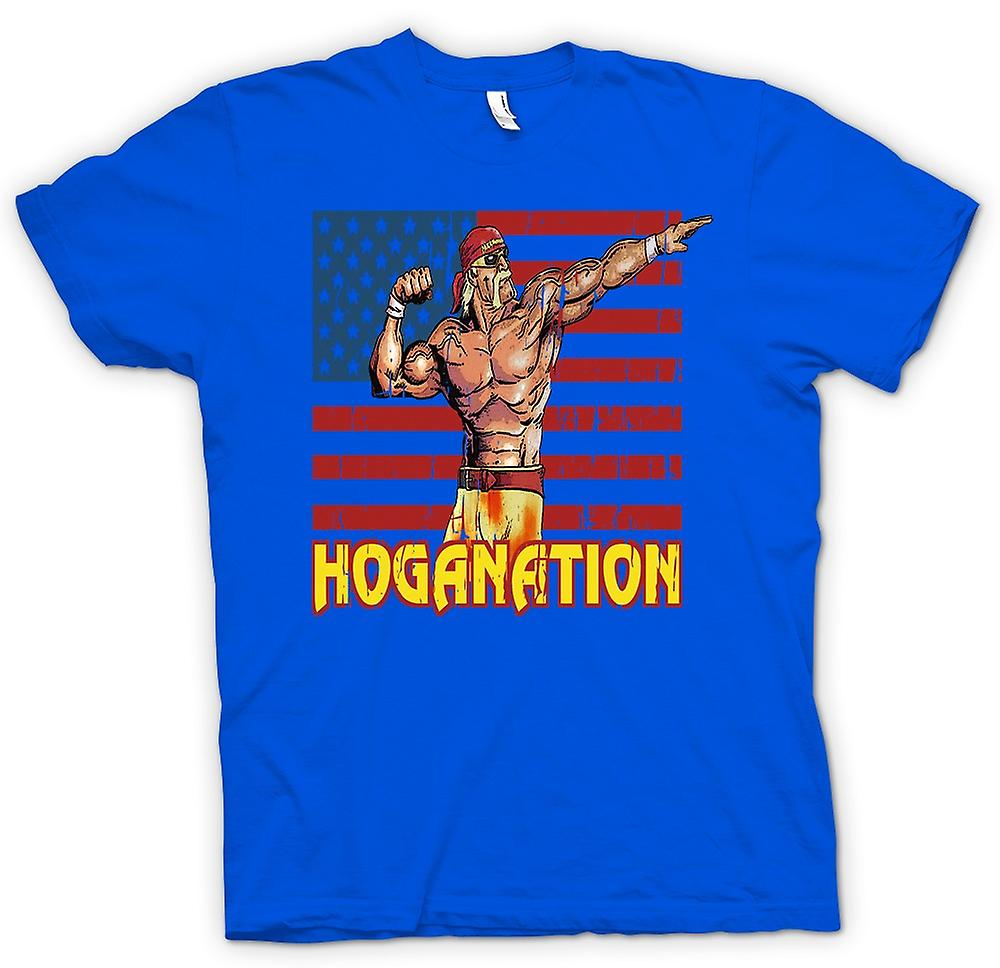 Mens t-shirt - Hoganation - Hulk Hogan U.S. Flag