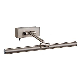 Firstlight Modern Brushed Steel Picture Light With Switch (395mm)