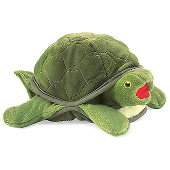Hand Puppet - Folkmanis - Turtle Baby New Animals Soft Doll Plush Toys 2521