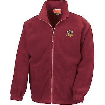 Royal Regiment of Wales - lizenzierte britische Armee bestickt Schwergewicht Fleece Jacke
