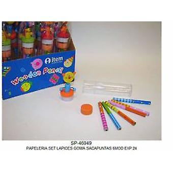 Import Set Briefpapier 6 Modelle (Babys und Kinder , Spielzeuge , Schulzone)