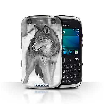 STUFF4 Case/Cover for Blackberry Curve 9320/Wolf/Mono Zoo Animals