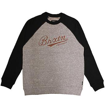Brixton Fenway Sweatshirt Grey Black