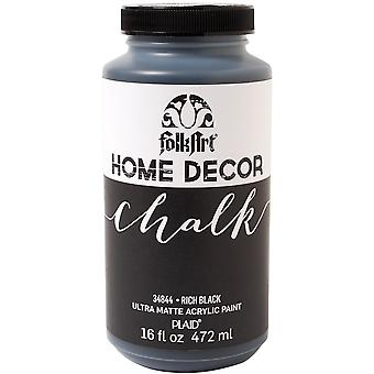 Folkart Home Decor Chalk Finish Paint 16oz-Rich Black