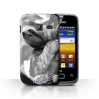 STUFF4 Case/Cover for Samsung Galaxy Y Duos/S6102/Sloth/Mono Zoo Animals