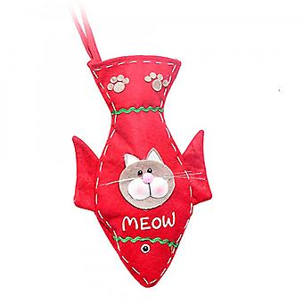 Brown Cat Lovers Christmas Stocking Decoration