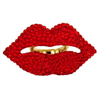 Butler and Wilson Large Lips Ring Size N