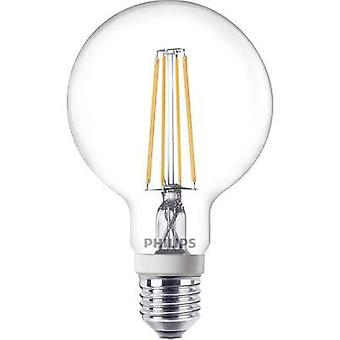 LED E27 Arbitrary 7 W = 60 W Warm white (Ø x L) 95 mm x 150 mm EEC: A++ Philips Lighting dimmable, Filament 1 pc(s)