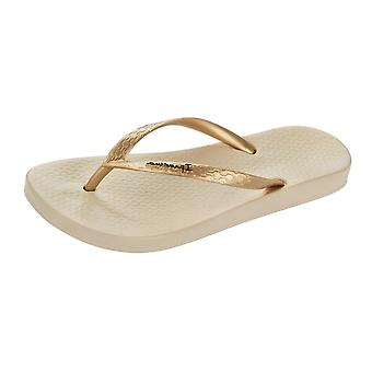Ipanema Tropical Womens Flip Flops / Sandals - Beige Gold