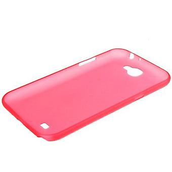 Protective cover case ultra thin 0.3 mm for mobile Samsung Galaxy touch 2 N7100 red transparent