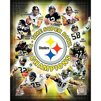 Pittsburgh Steelers 6-Time Super Bowl Champions sammensatte Sports foto