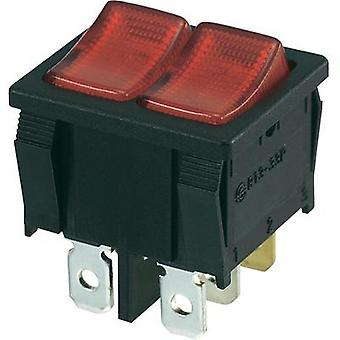 Toggle switch 250 Vac 10 A 2 x Off/(On) SCI R13-33