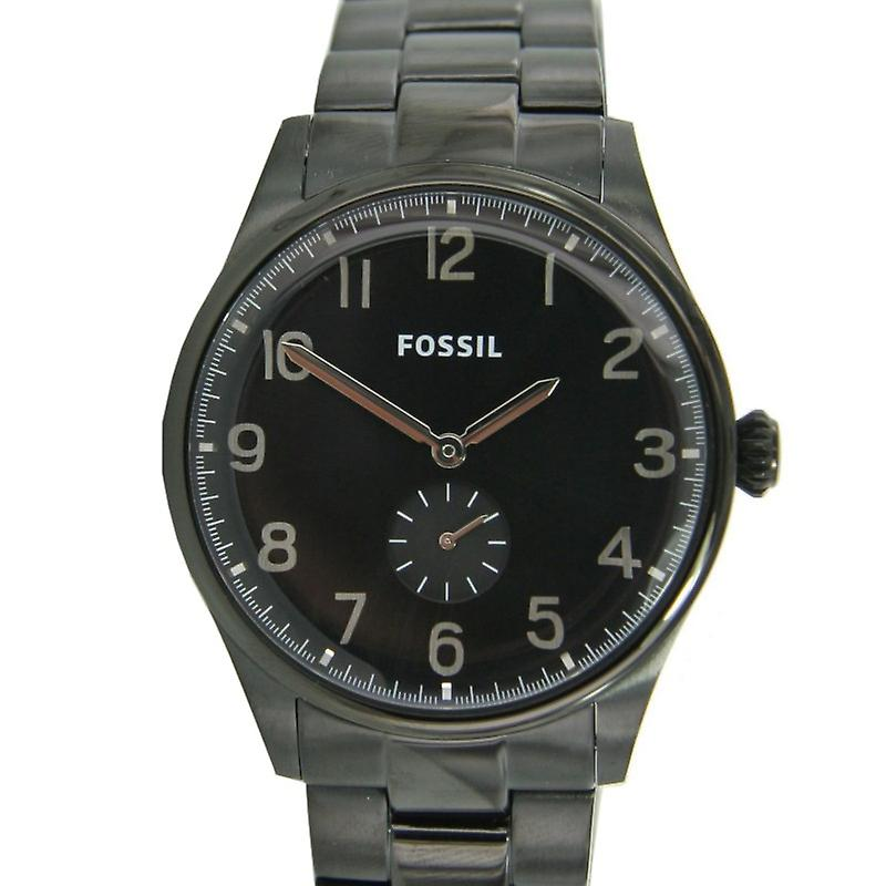 Fossil Men clock watch black IP FS4854