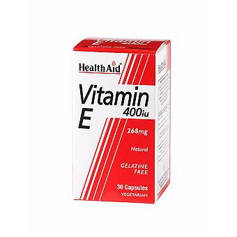 Health Aid Vitamin E 400iu Natural ,  30 Vegicaps