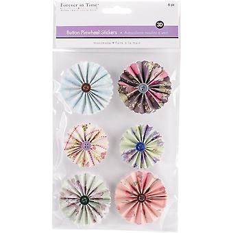 MultiCraft Handmade 3D Button Pinwheel Stickers-Dainty SS800-D