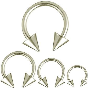Circular Barbell Horseshoe Piercing Spikes, Body Jewellery, Thickness 1,6 mm | Diameter 8 - 14 mm