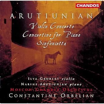 A. Arutiunian - Alexander Aruthiunian: Concierto para violín; Concertino para Piano; Importación de los E.e.u.u. Sinfonietta [CD]