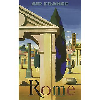 Air France Rom Poster Print Giclee