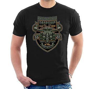 Express Elevator To Hell Aliens Men's T-Shirt