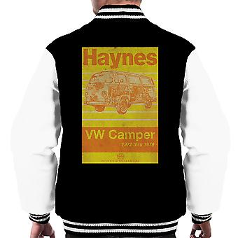 Haynes Workshop Manual Volkswagen Camper 1972 Stripe Men's Varsity Jacket