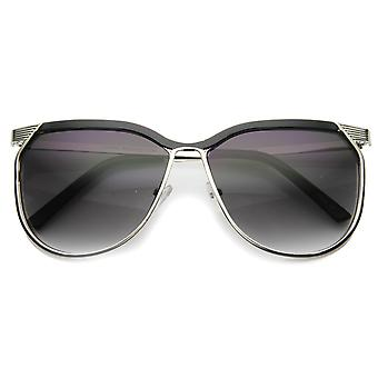 Unisex Metal Square Sunglasses With UV400 Protected Gradient Lens