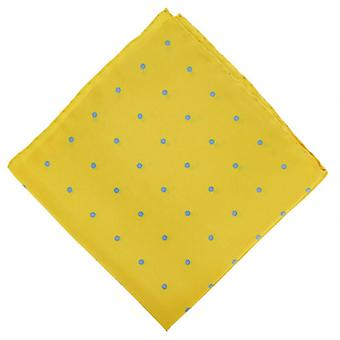 Michelsons of London Spotted Handkerchief - Yellow/Light Blue
