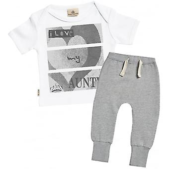 Spoilt Rotten I Love My Aunty Baby T-Shirt & Joggers Outfit Set