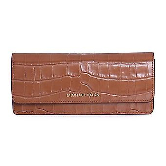 Michael Kors Money Pieces Crocodile-embossed Leather - Flat Wallet - Acorn - 32F7GF6F2E-532