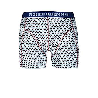 Fisher & Bennet Fisher & Bennet Mens Three Pack Multi-Coloured Boxer Shorts