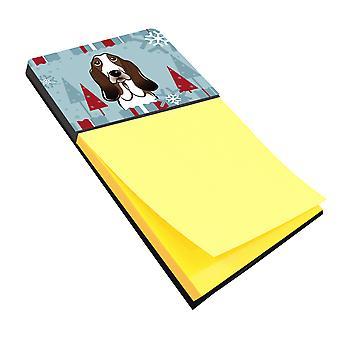 Carolines Treasures  BB1739SN Winter Holiday Basset Hound Sticky Note Holder
