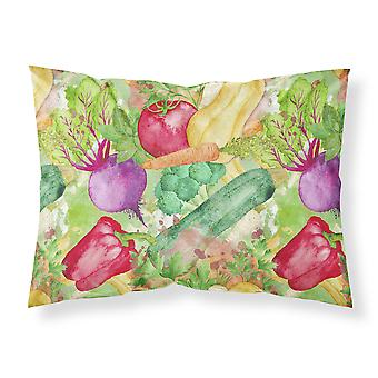 Watercolor Vegetables Farm to Table Fabric Standard Pillowcase