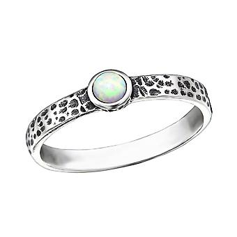 Round - 925 Sterling Silver Cubic Zirconia Rings - W31786x
