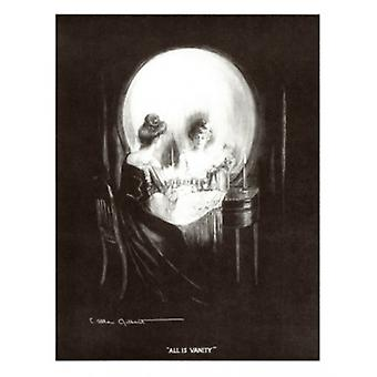 All is Vanity Poster Print by C Allan Gilbert (12 x 15)