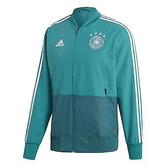 2018-2019 Deutschland Adidas Präsentation Jacket (grün)