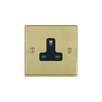 Hamilton Litestat Hartland Polished Brass 1g 13A Unswitched Socket BL