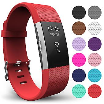 Yousave Fitbit Charge 2 Strap Single (Small) - Red
