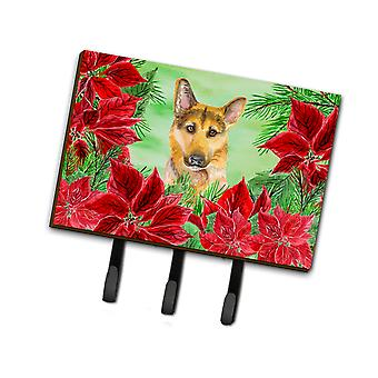 German Shepherd #2 Poinsettas Leash or Key Holder
