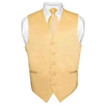 Abito gilet cravatta & solido collo cravatta Set maschile per seme o Tuxedo