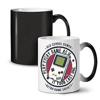 Gamer Society NEW Black Colour Changing Tea Coffee Ceramic Mug 11 oz   Wellcoda