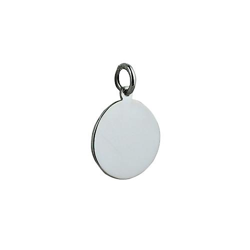 Silver 17mm round plain Disc