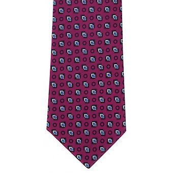 Michelsons of London Diamond Motif Polyester Tie - Pink