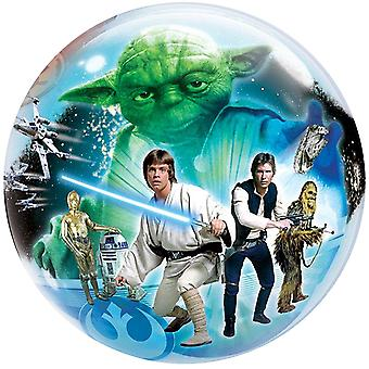 Star Wars balloon bubble 2 different motif Luke Skywalker-Darth Vader circa 55cm balloon