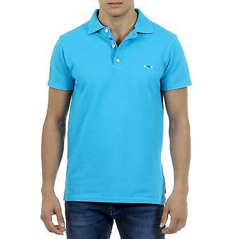 Andrew Charles Mens Polo Short Sleeves Light Blue Sefu