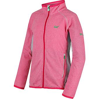 Regatta Boys & Girls Pira Micro Fleece Zip Pocket Stretch Jacket