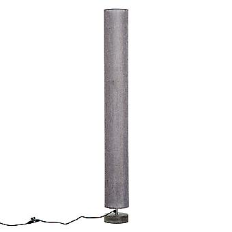 HOMCOM 120 CM Modern Wooden Floor Lamp for Bedroom, Study or Living Space with Fabric Linen Shade (Grey)