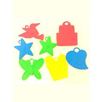 Ballong vikt är blandade färger & mönster (påse av 144)