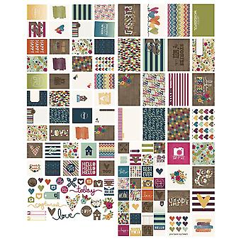 Sn@p! Double-Sided Cards & Bits/Pieces Die-Cuts Pack 130pcs-Lovely